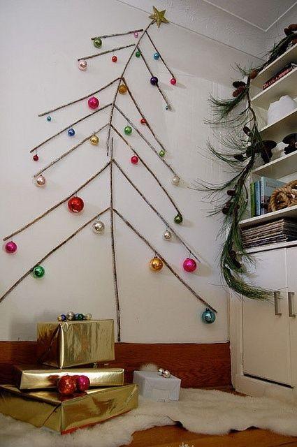 Árvore de natal de parede - árvore de natal criativa