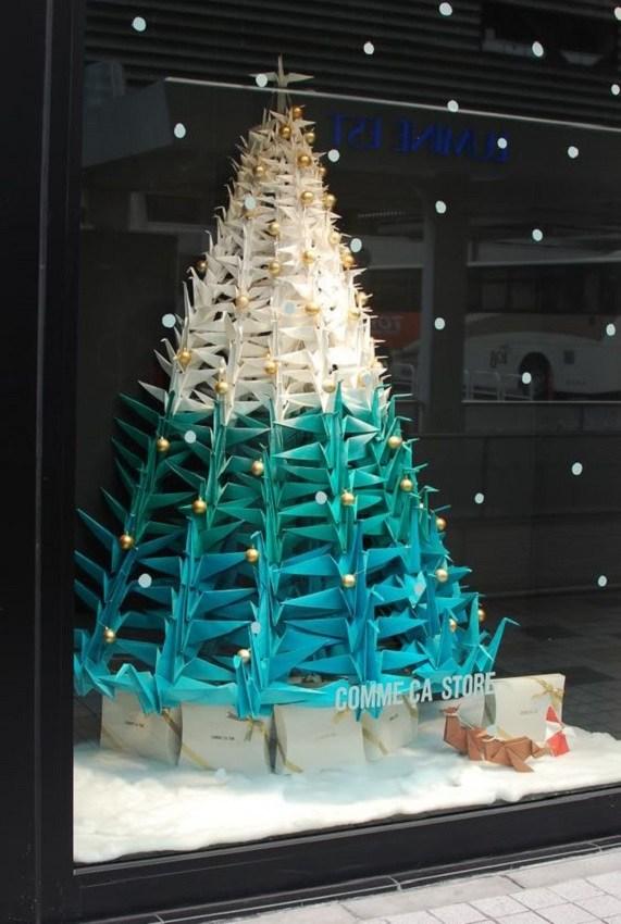 Árvore de natal criativa de origami tsuru - xstmas tree