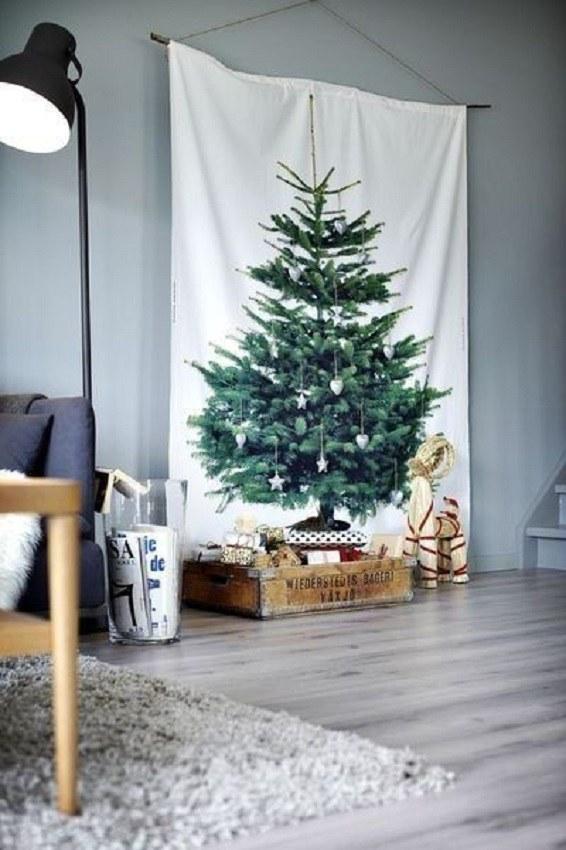 Árvore de natal criativa de foto de árvore painel - christmas tree