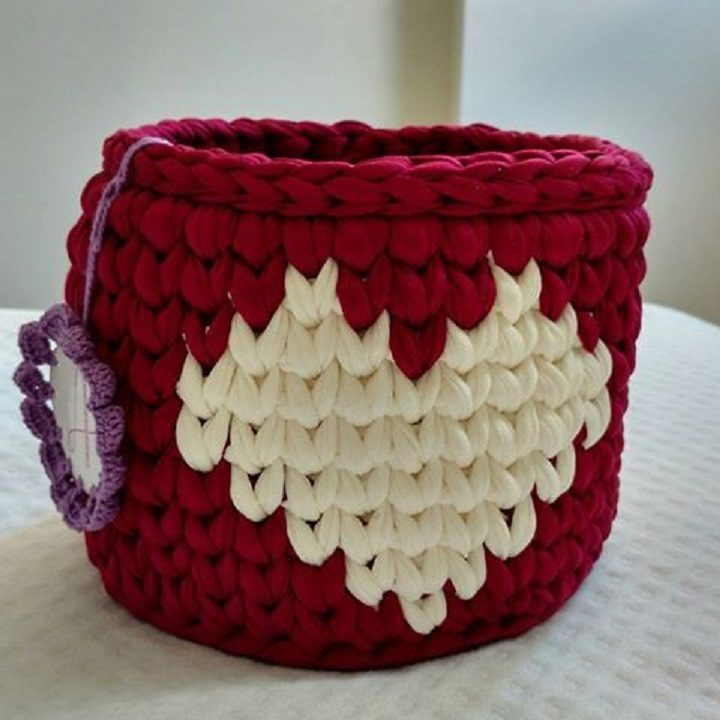 Faça você mesma - cestos em crochê com fio de malha