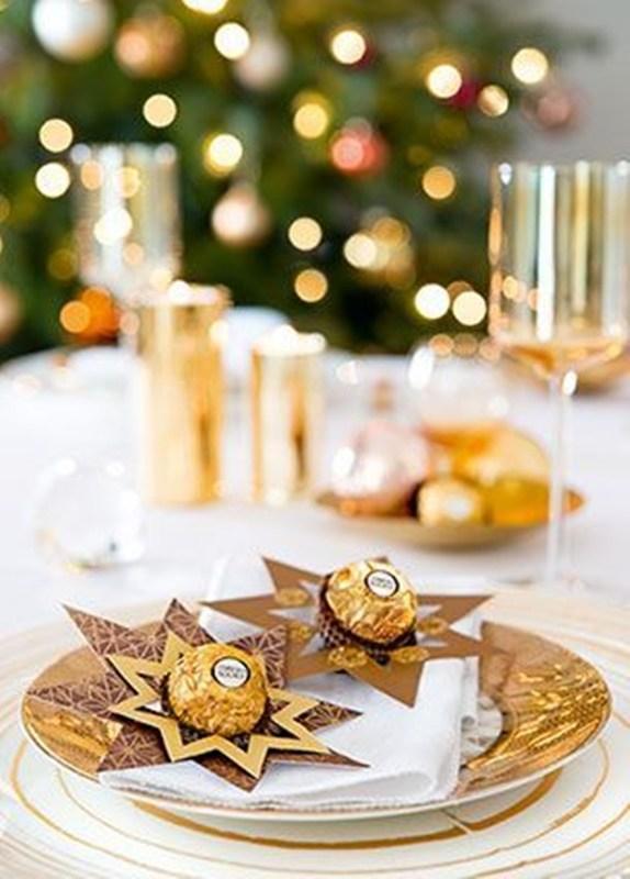 DIY - decoração de mesa de Natal - Ferrero Rocher