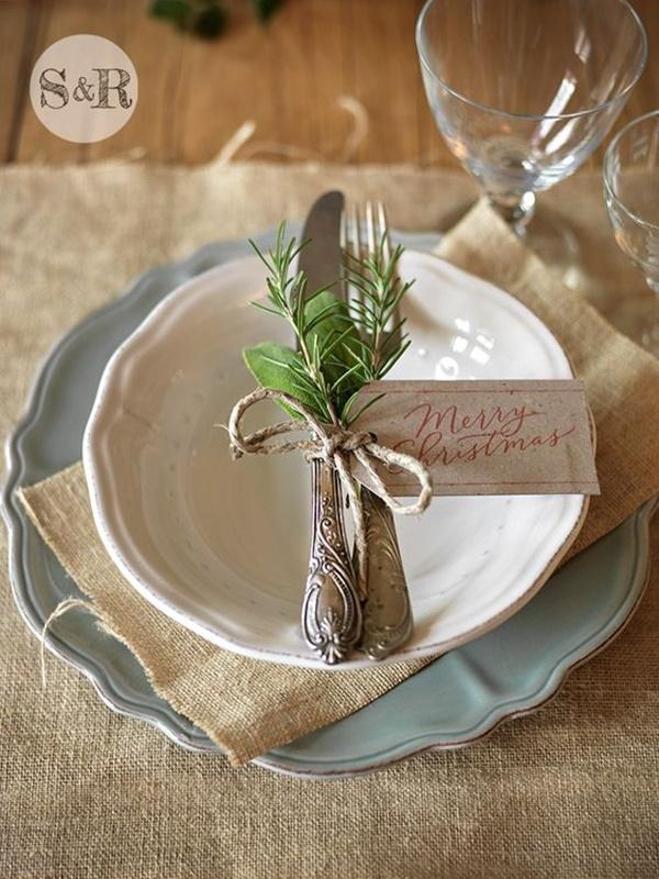 DIY - decoração de mesa de Natal