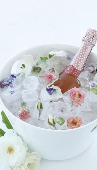 Flores no gelo - DIY - decoração de mesa de Natal