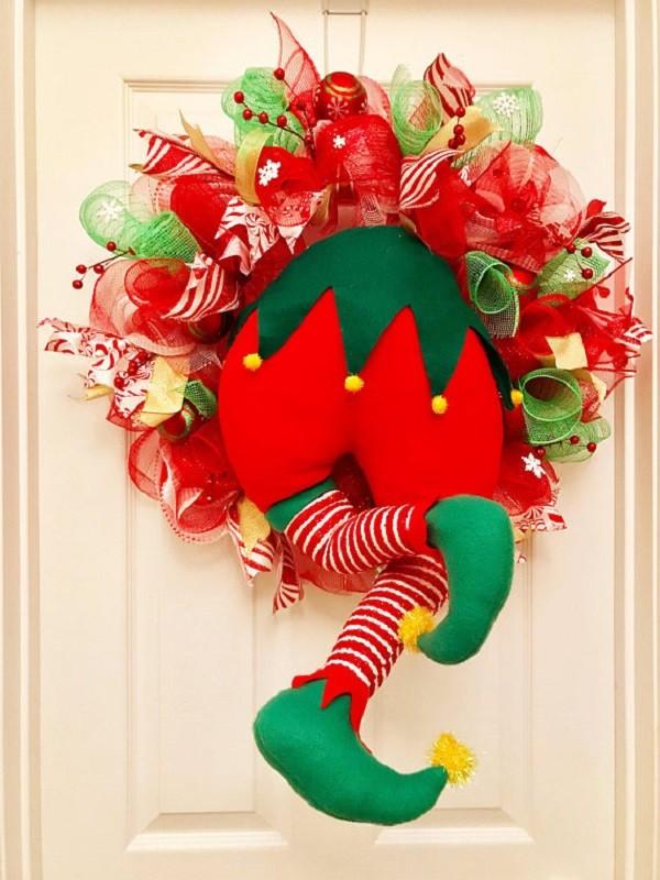 18 ideias para enfeitar - Guirlanda de Natal criativa - Christmas wreaths