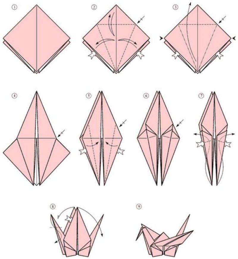 Passo-a-passo de origami tsuro para decorar sua árvore de Natal
