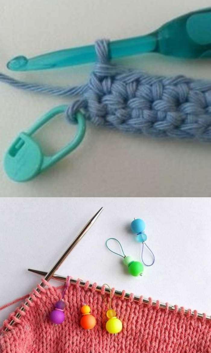 20 Valiosas dicas de crochê - alfinete marcador