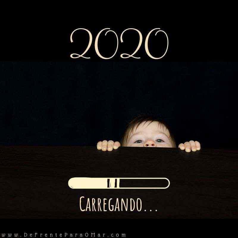Feliz Ano Novo Feliz 2020 !- Mensagem Carregando