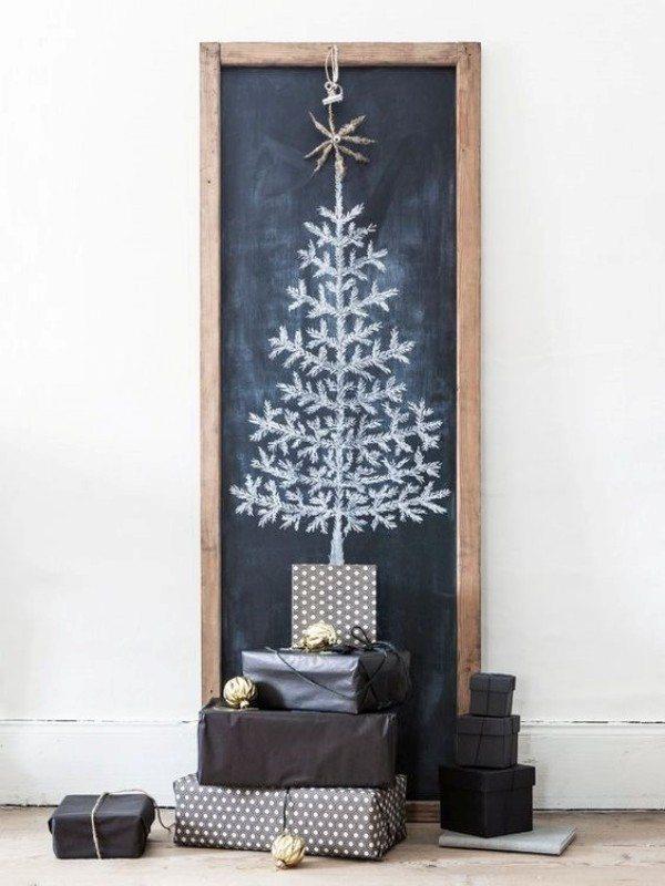 Desenhando o Natal: Árvore de Natal na lousa
