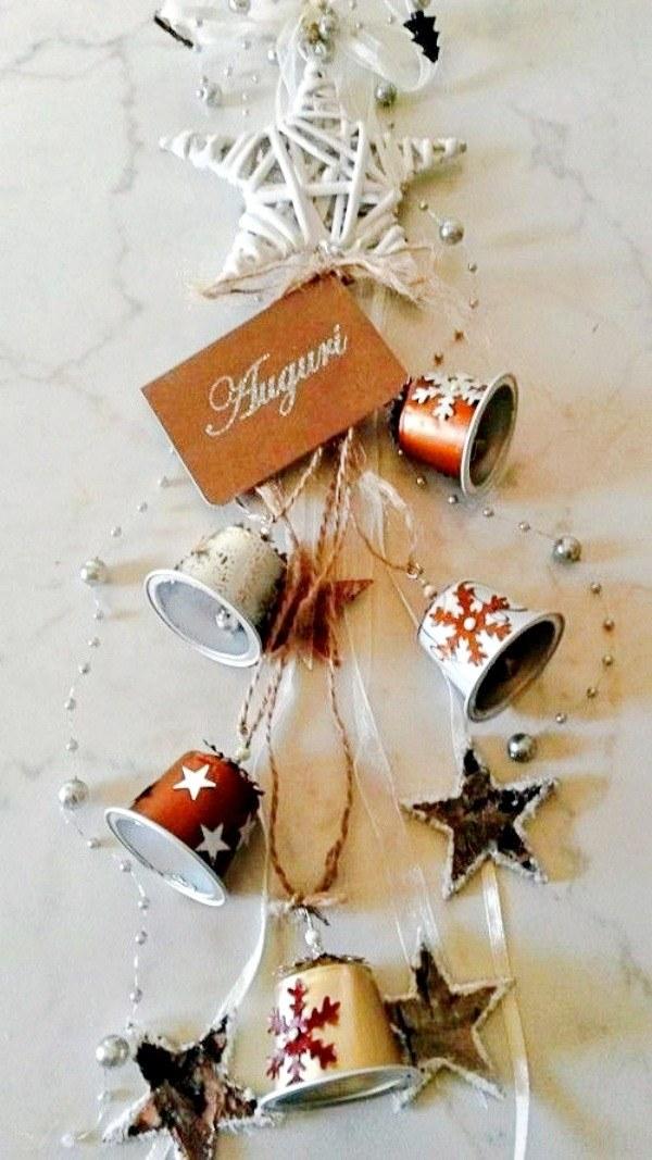 Ideias de enfeites de Natal com cápsulas de café