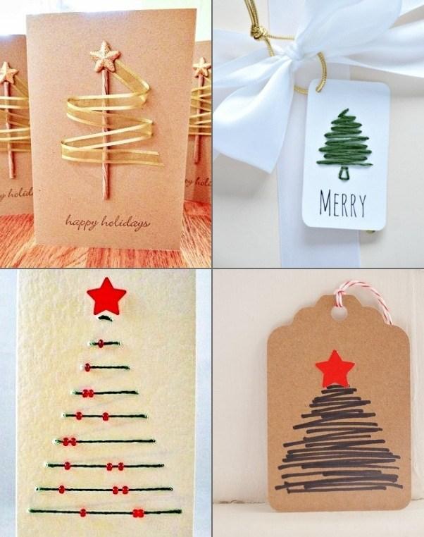 16 Ideias criativas de etiquetas e cartões de Natal