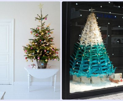 árvore de natal criativa ou tradicional