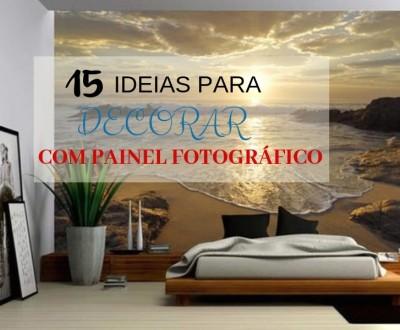 15 ideias para decorar com painel fotográfico