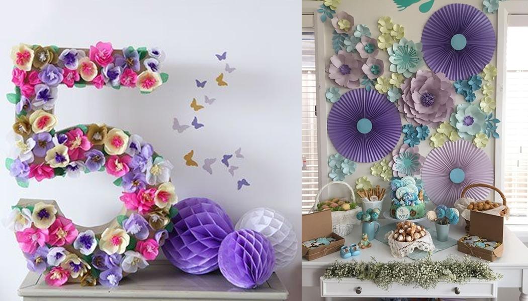 Decoraç u00e3o com flores gigantes para festa de aniversário u22c6 De Frente Para O