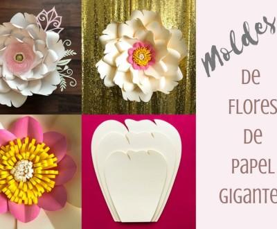 molde de flor de papel gigante