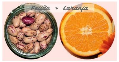 Feijão com laranja - potencializar os alimentos naturalmente