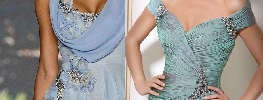 Decote do vestido de festa