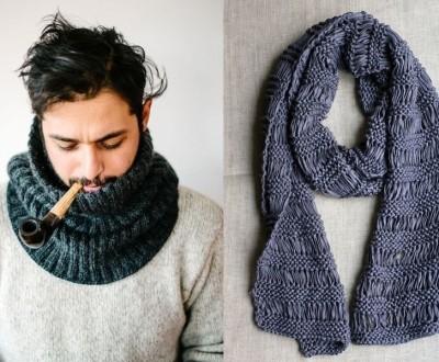 DIY - Gola e cachecol masculino