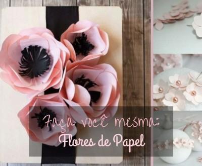 Flores de papel passo-a-passo