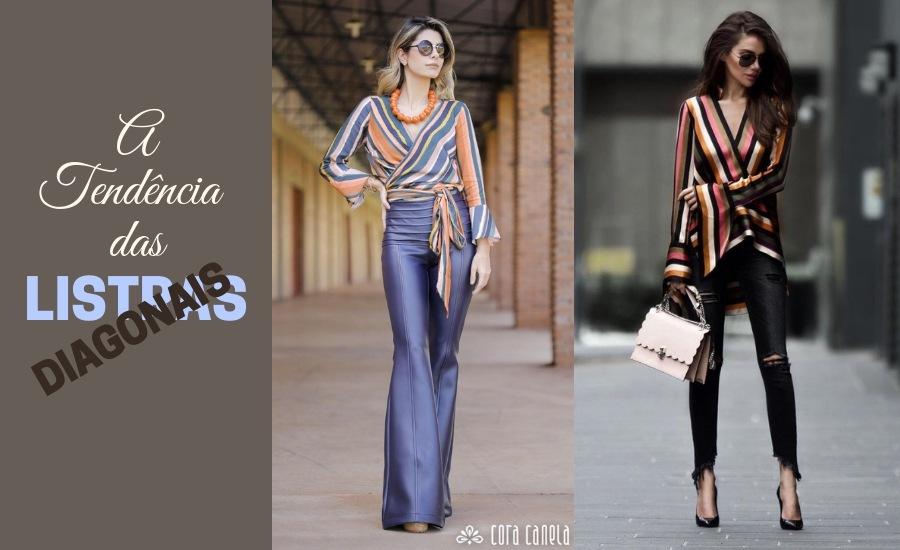 Moda anti-idade: Listras diagonais
