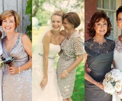 Vestido curto para mãe da noiva
