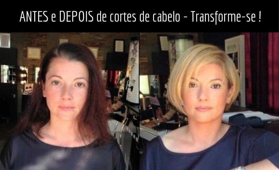 Moda anti-idade: antes e depois de corte de cabelo