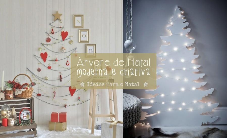 Ideias de árvore de Natal moderna e criativa para copiar