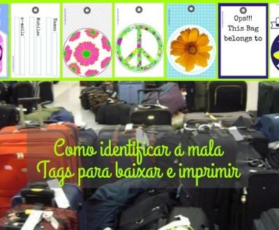 Identificação para malas - Tags para baixar e imprimir