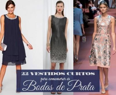 Moda Festas: vestido curto para bodas de prata