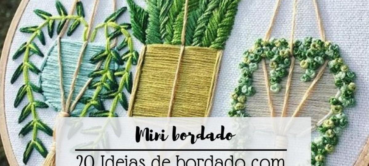 Mini bordado - bordando cactos e suculentas