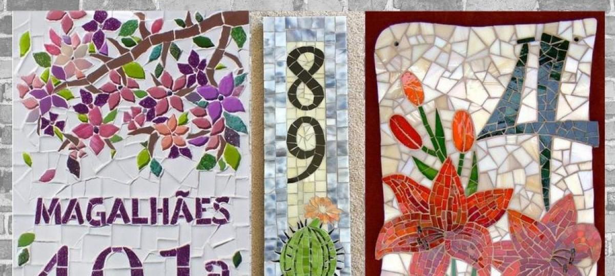 DIY e decore: números de casa em mosaico