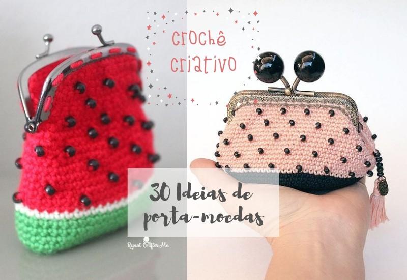 DIY - 30 Porta-moedas de crochê