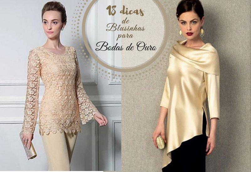 Moda anti-idade: Blusinhas para bodas de ouro