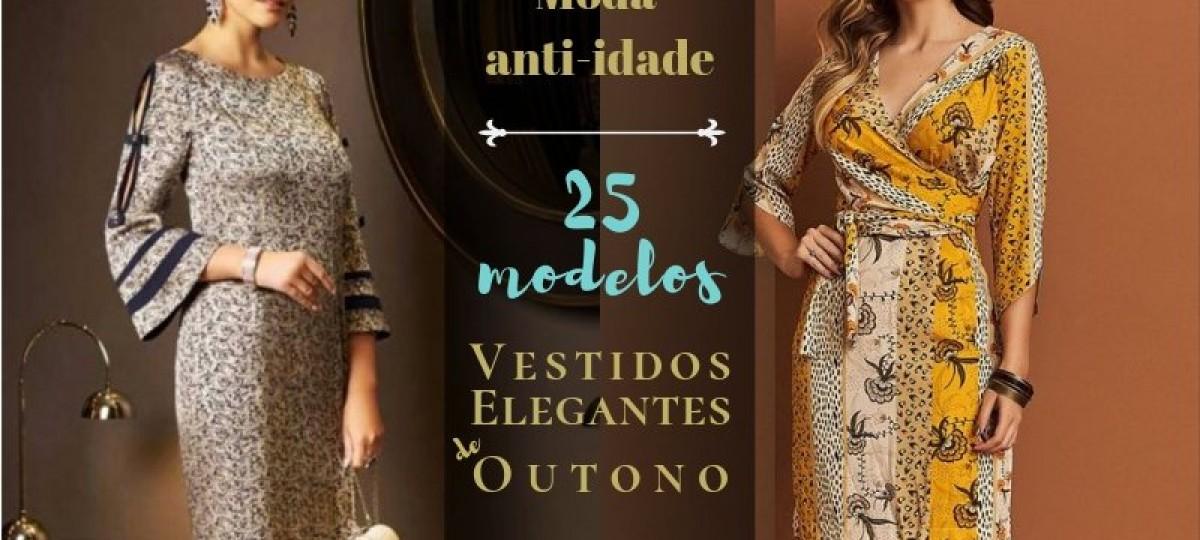 25 modelos de vestidos elegantes de outono