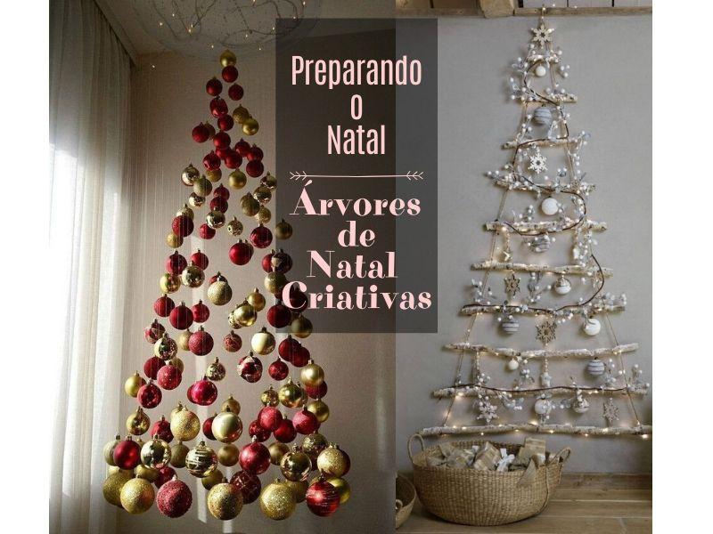 Preparando o Natal: +26 ideias de árvore de Natal criativa