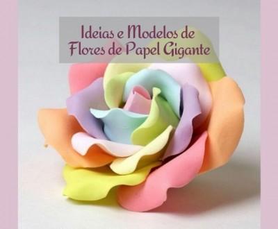 23 ideias de modelos de flores de papel gigante