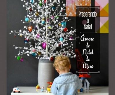 Preparando o Natal: Árvore de Natal de Mesa