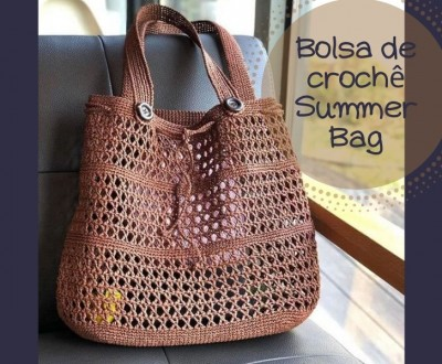Bolsa de crochê summer bag
