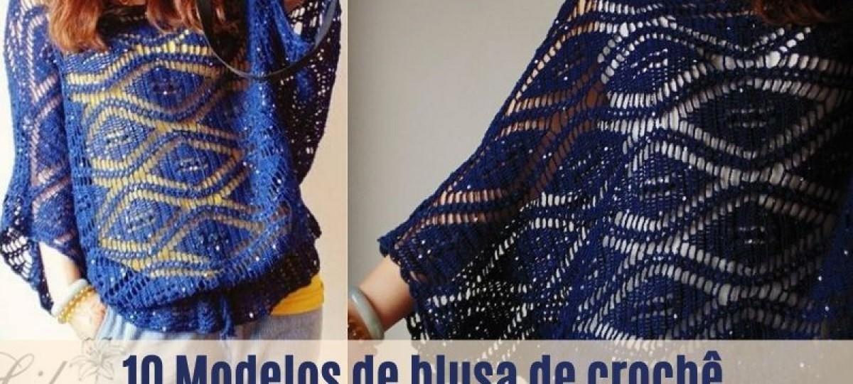DIY: Blusa de crochê com gráfico do ponto