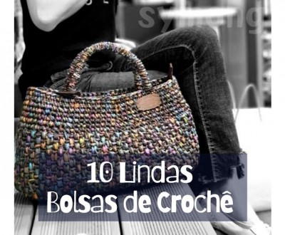 10 Lindas Bolsas de Crochê