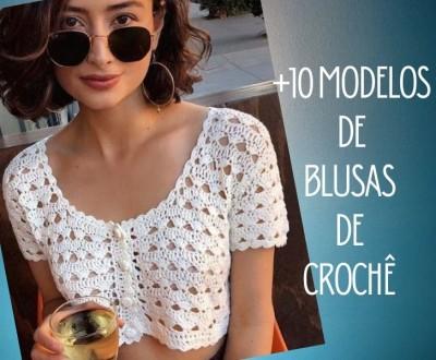 +10 modelos de blusa de crochê com gráfico do ponto
