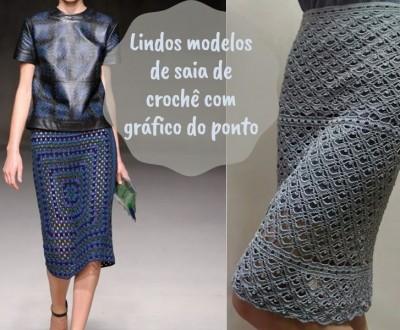 Lindos modelos de saia de crochê +gráfico do ponto