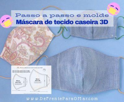Passo a passo de máscara de tecido 3D