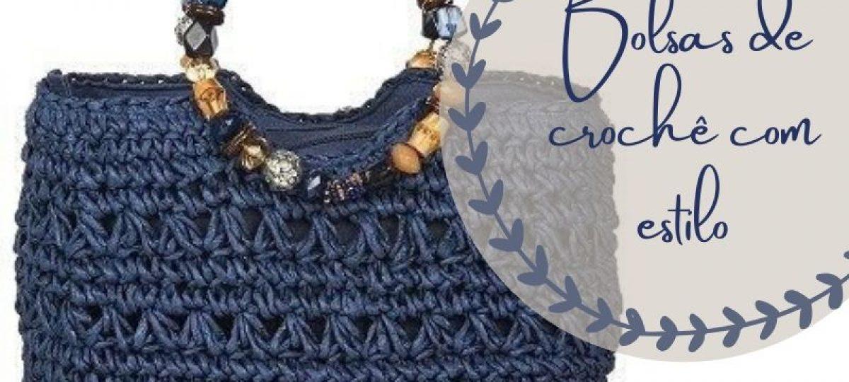 Bolsa de crochê com estilo + gráfico do ponto