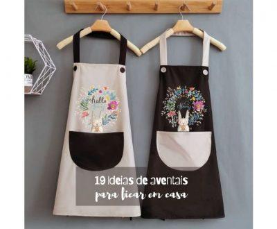 19 Ideias e modelos de avental para ficar em casa