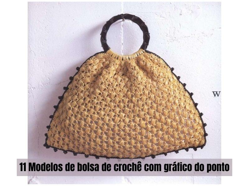 11 Modelos de bolsa de crochê co gráfico do ponto