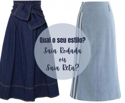 Qual o seu estilo? Saia Rodada ou Saia Reta?