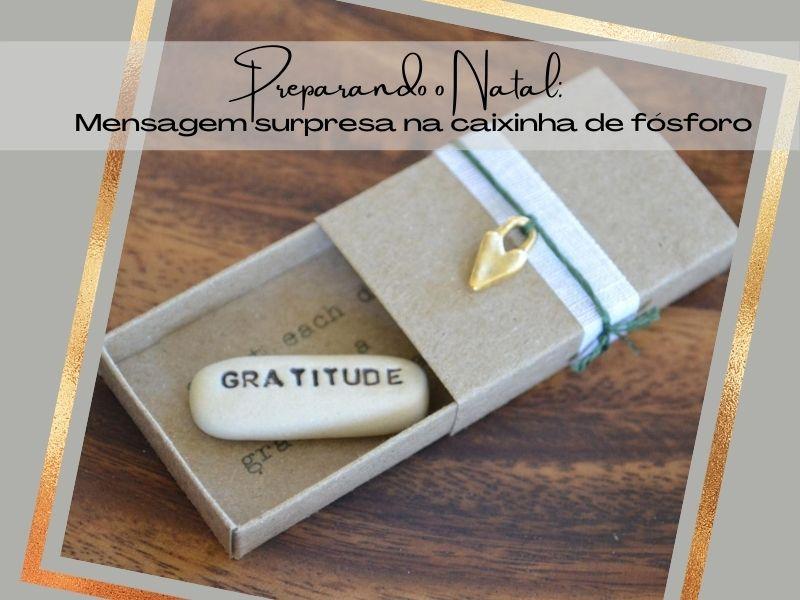 Preparando o Natal: Mensagem surpresa na caixinha de fósforo