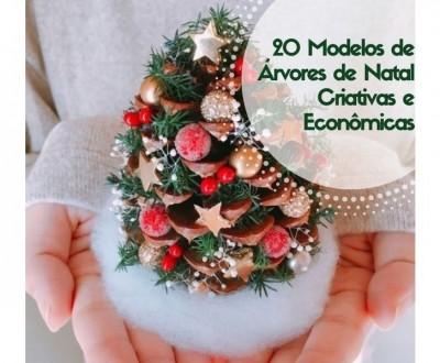 20 Modelos de Árvores de Natal Criativas e Econômicas