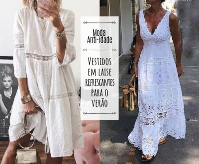 Vestidos em laise refrescantes para o verão