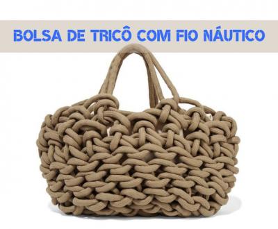 16 Modelos de bolsa de tricô com fio náutico